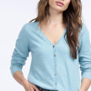 Basic cashmere cardigan met V-hals bestellen via fashionciao