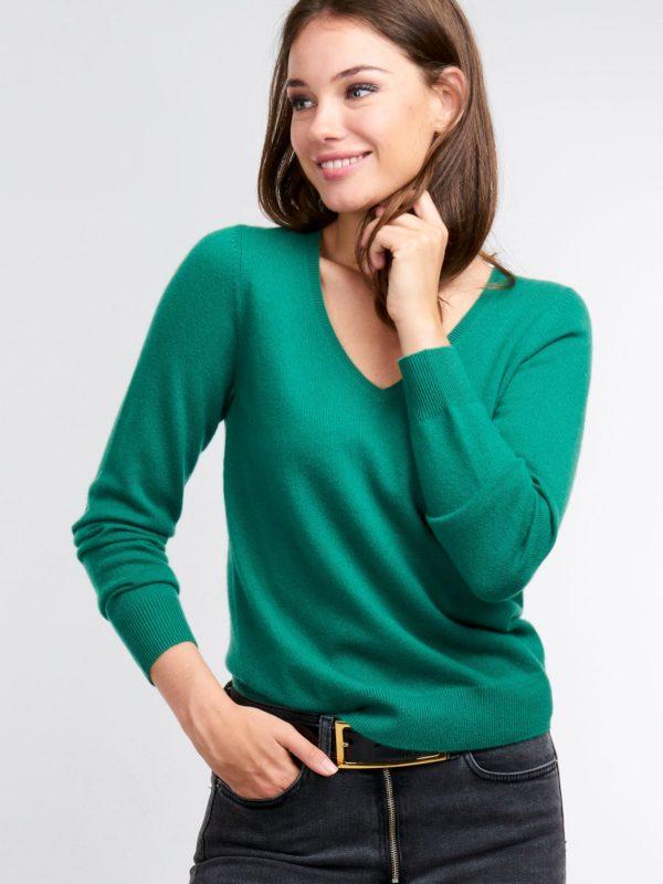Cashmere trui met V-hals bestellen via fashionciao