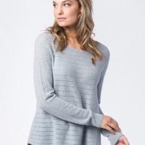 Cashmere sweater met fijngebreid kabelpatroon bestellen via fashionciao