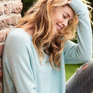 Cashmere trui met glinsterend effect bestellen via fashionciao
