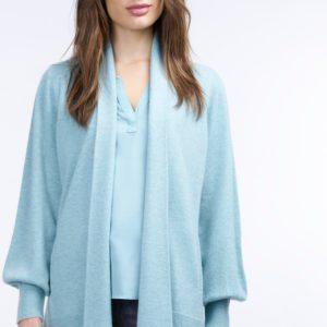 Open cashmere cardigan met geribde zoom bestellen via fashionciao