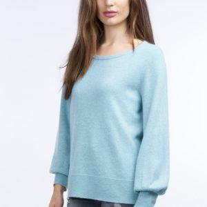 Cashmere trui met geribde zoom bestellen via fashionciao