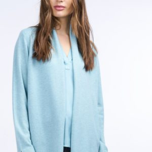 Cashmere cardigan met blousezoom opzij bestellen via fashionciao