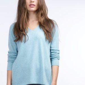 Cashmere trui met blousezoom opzij bestellen via fashionciao