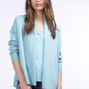 Cashmere vest met geribde mouwen bestellen via fashionciao