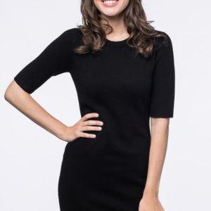 Aansluitende gebreide jurk bestellen via fashionciao