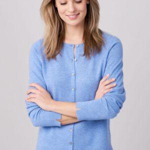Basic cardigan met ronde hals van zijde en cashmere bestellen via fashionciao