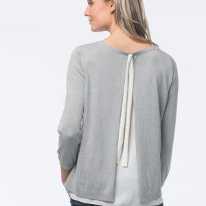 2-in-1 trui met strik en split aan de achterkant bestellen via fashionciao