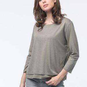 2-in-1 shirt met split en strik op de rugzijde bestellen via fashionciao
