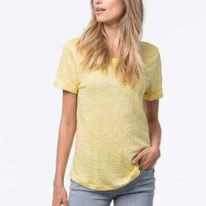 Basic linnen T-shirt bestellen via fashionciao