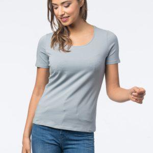 Basic dames T-shirt met ronde hals bestellen via fashionciao