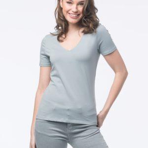 Basic katoenen T-shirt met V-hals bestellen via fashionciao