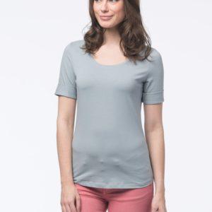 Dames T-shirt met opgerolde mouwen bestellen via fashionciao
