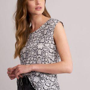 Zijden top met slangenprint bestellen via fashionciao