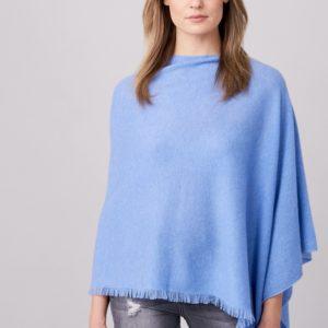 Asymmetrische poncho met franje bestellen via fashionciao