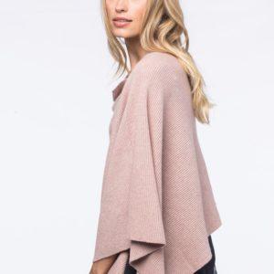 Asymmetrische poncho bestellen via fashionciao