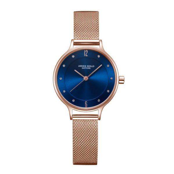 "Aries Gold – Enchant ""Stylish & female"" – L5033Z RG-BU (Rosé goud met blauw) bestellen via fashionciao"