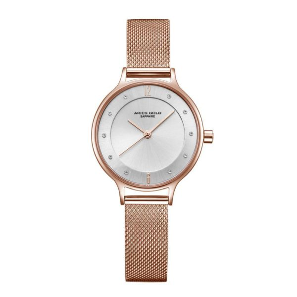"Aries Gold – Enchant ""Stylish & female"" – L5033Z RG-W (Rosé goud met wit) bestellen via fashionciao"