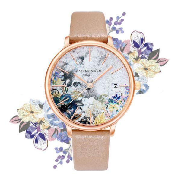 """Aries Gold – Fleur """"Colour your life"""" – L5035 RG-GYFL (Rosé goud met gele bloem) bestellen via fashionciao"""
